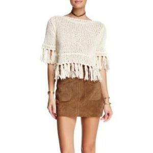 Free People Suede Modern Love Skirt